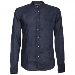 Shirt Canottieri Portofino Korean neck with arms Man blue