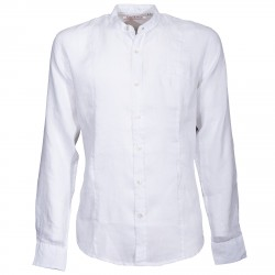 Camicia Canottieri Portofino alla coreana con bandiera Uomo bianco