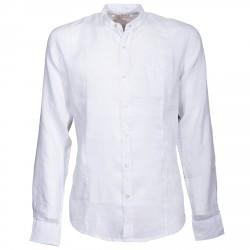 Chemise Canottieri Portofino col mandarin avec drapeau Homme blanc