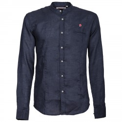 Shirt Canottieri Portofino Korean neck with logo Man blue