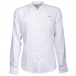 Camisa Canottieri Portofino cuello Mao con logotipo Hombre blanco