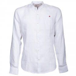Shirt Canottieri Portofino Korean neck with logo Man white