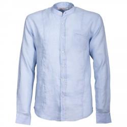 Camisa Canottieri Portofino cuello Mao Hombre azul claro