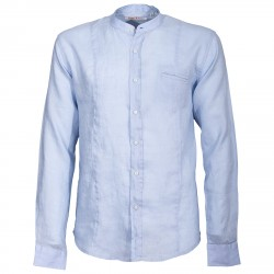 Chemise Canottieri Portofino col mandarin Homme bleu clair