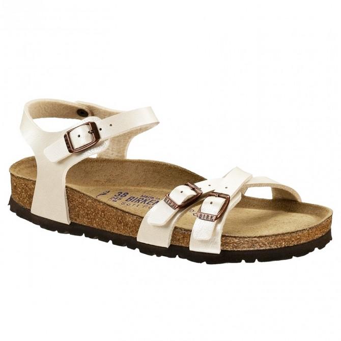 Sandales Birkenstock Kumba Femme blanc perlés
