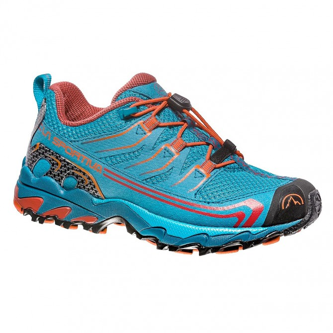 Trail running shoes La Sportiva Falkon Low Boy light blue-orange (27-35)