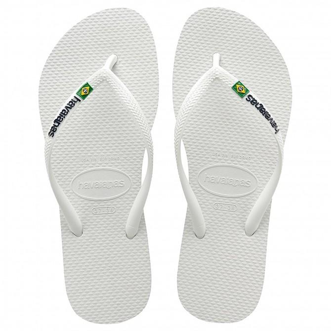 Infradito Havaianas Brasil Slim Logo bianco HAVAIANAS Sandali