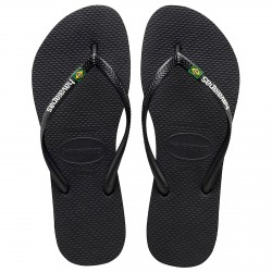 Chancletas Havaianas Brasil Slim Logo negro