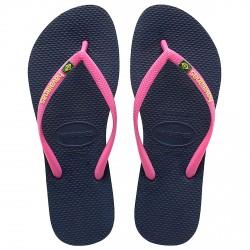Infradito Havaianas Brasil Slim Logo blu-rosa