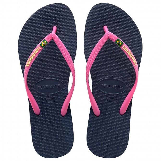 9d6ac2cbe741 Flip-flop Havaianas Brasil Slim Logo - Shoes and sandals