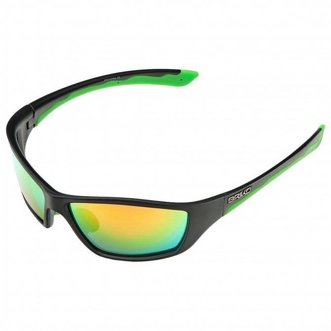 Occhiali da sole Briko Action nero-verde BRIKO Occhiali ciclismo