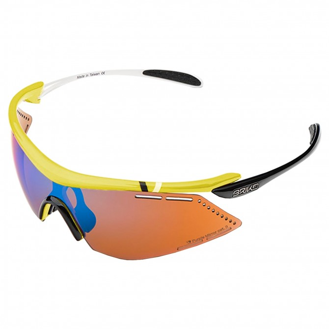 Bike sunglasses Briko Endure Pro Team 2 yellow-black-white