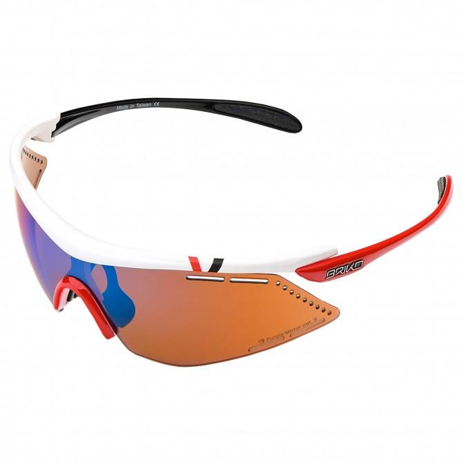 Bike sunglasses Briko Endure Pro Team 2 white-black-red
