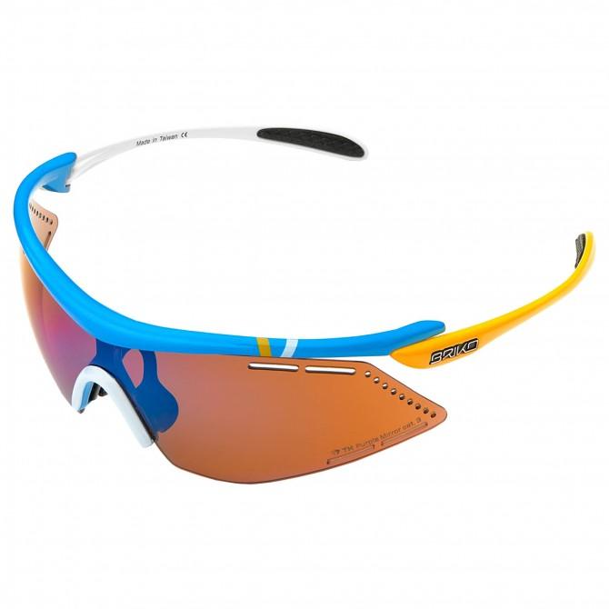 Bike sunglasses Briko Endure Pro Team 2 white-yellow