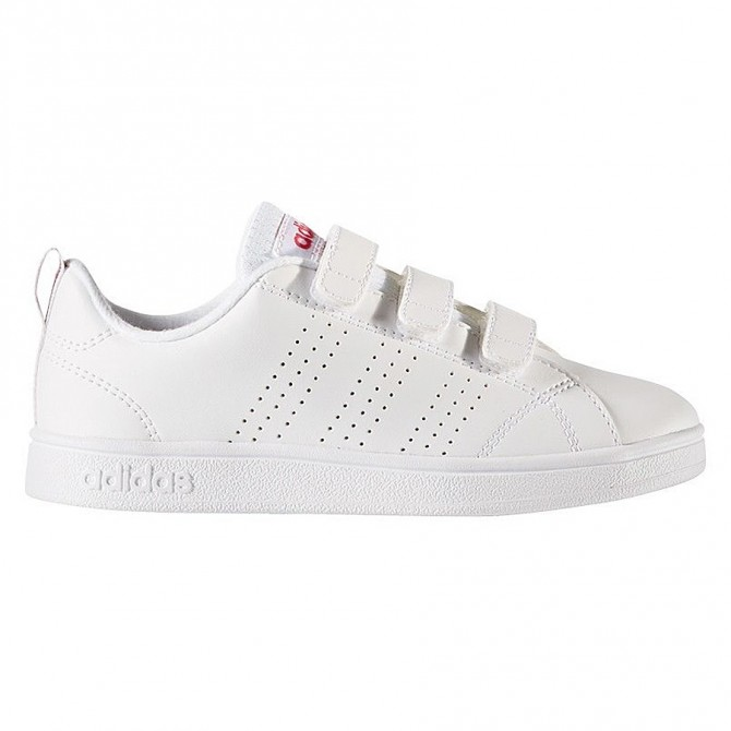 Sneakers Adidas Adv Advantage Clean Fille blanc-rose (28-34)