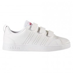 Sneakers Adidas Adv Advantage Clean Bambina bianco-rosa (21-27)