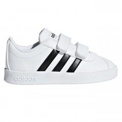Sneakers Adidas VL Court Baby bianco-nero