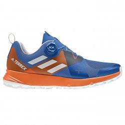 Zapatos trail running Adidas Terrex Two Boa Hombre azul-naranja