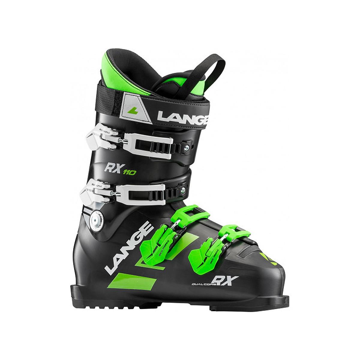 Scarponi sci Lange Rx 110 (Colore: nero-verde, Taglia: 30)