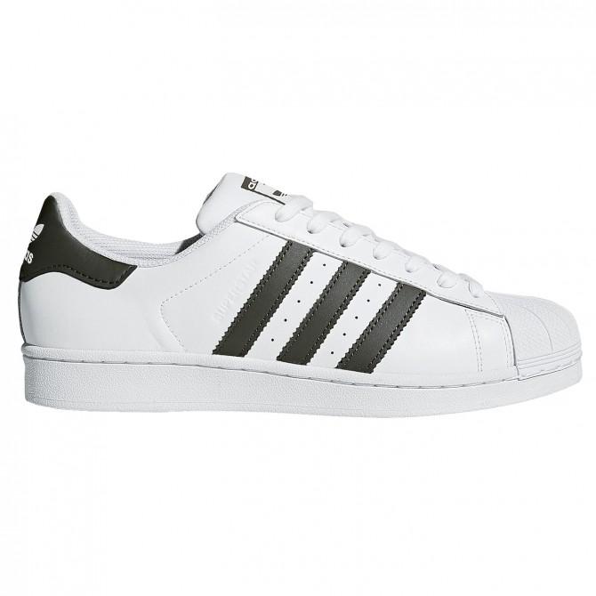 Sneakers Adidas Superstar Fundation blanco-verde miliitar