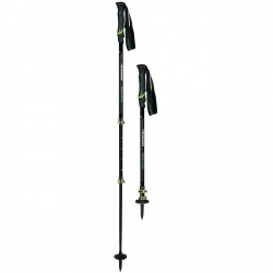Trekking poles Komperdell Hikemaster Powerlock black-green