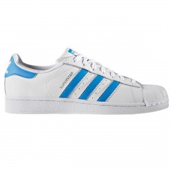 Sneakers Adidas Superstar blanc-bleu clair