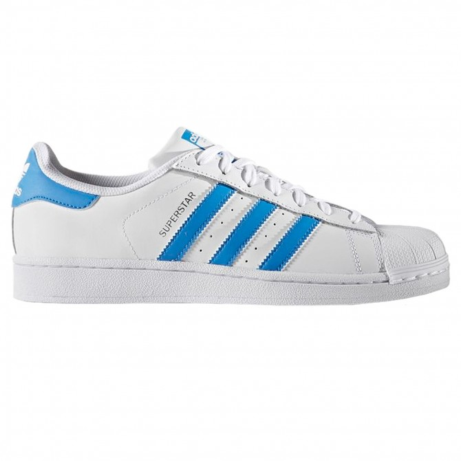 Sneakers Adidas Superstar white-light blue