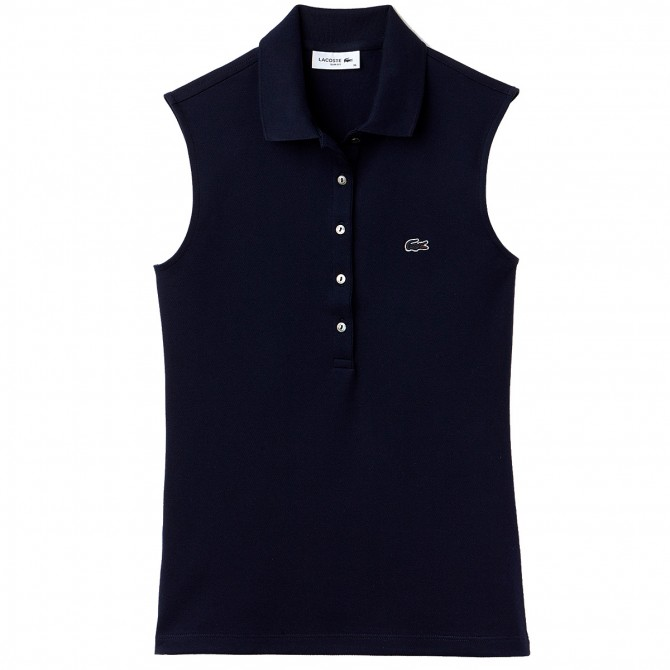 Polo Lacoste sin mangas Mujer