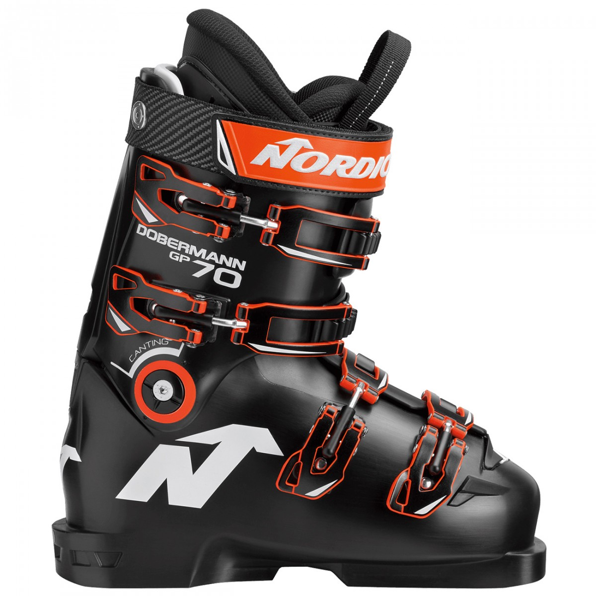 Scarponi sci Nordica Dobermann Gp 70 (Colore: nero-arancione, Taglia: 22.5)