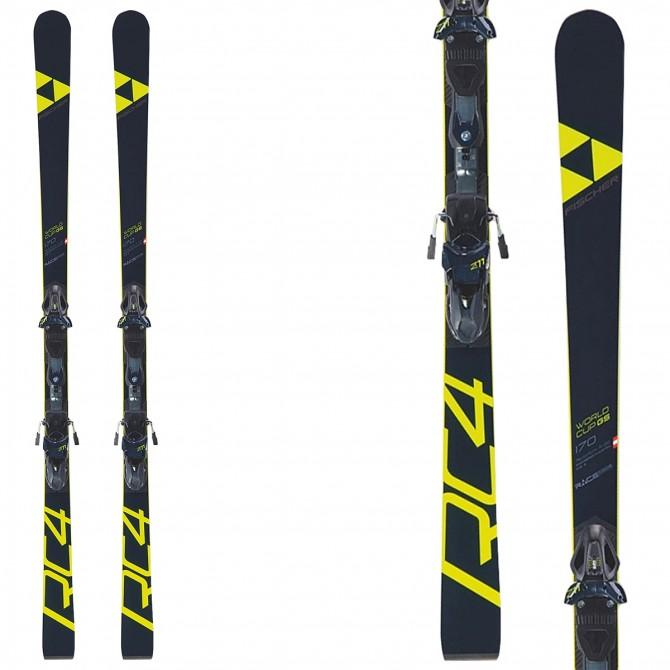Ski Fischer RC4 WC GS JR Curv Booster + bindings FJ7