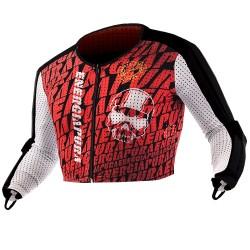Maglia Energiapura Rancing con protezioni bianco-turchese-rosso-ner
