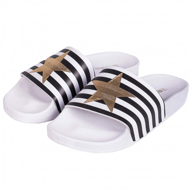 Sandali The White Brand Star with Stripes Donna