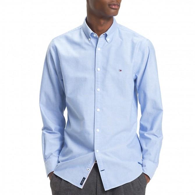 Camisa Tommy Hilfiger Oxford Hombre azul claro