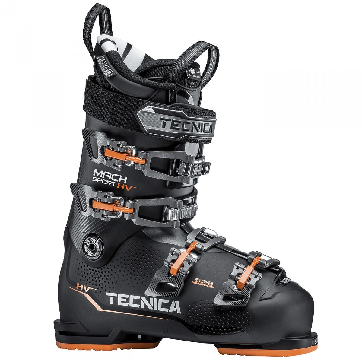 Scarponi sci Tecnica Mach Sport Hv 100 (Colore: nero-arancio, Taglia: 30)