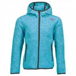 Vellón Cmp con capucha Niña azul claro