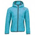 Hooded fleece Cmp Girl light blue