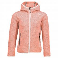 Hooded fleece Cmp Girl red