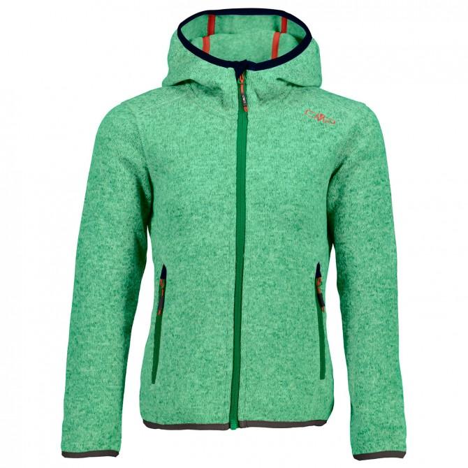 Vellón Cmp con capucha Niña verde