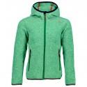 Hooded fleece Cmp Girl green
