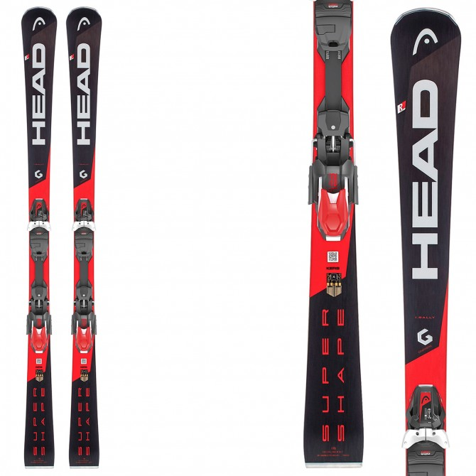 Ski Head Supershape i.Rally SW + fixations Prd 12 Brake 85
