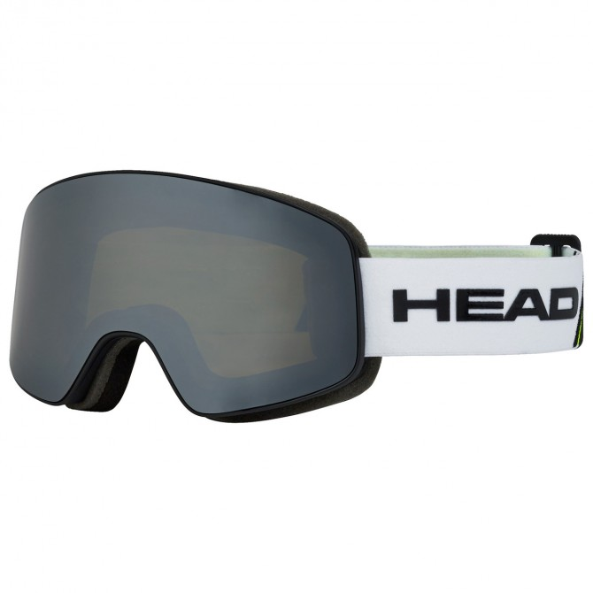 Maschera sci Head Horizon race + lente di ricambio bianco-lime