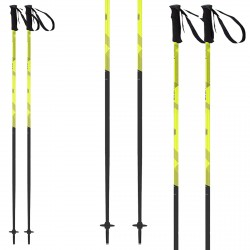 Ski poles Head Joy black-yellow