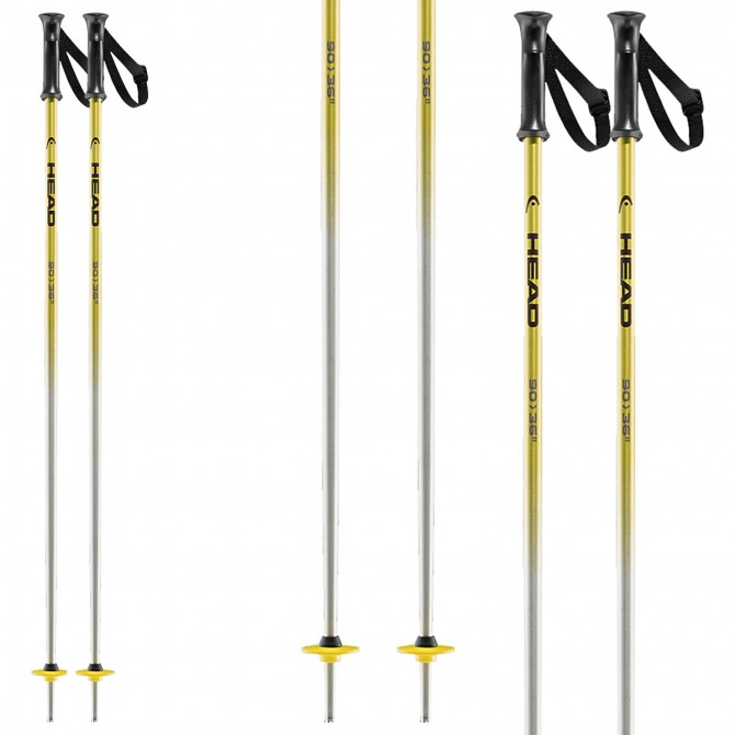 Ski poles Head Rental Junior yellow