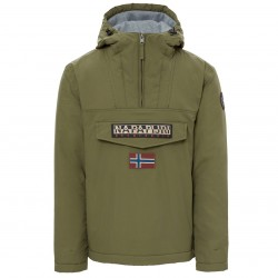 Cagoule Napapijri Rainforest Winter Uomo verde militare