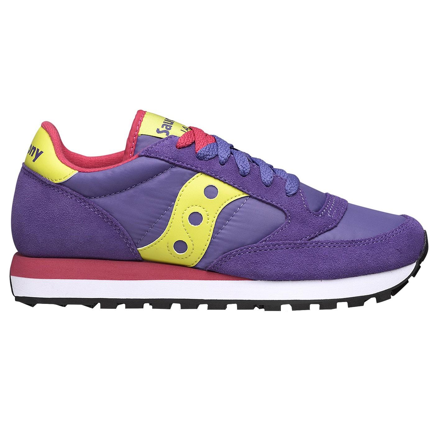 Sneakers Saucony Jazz Original Woman purple lime fuchsia