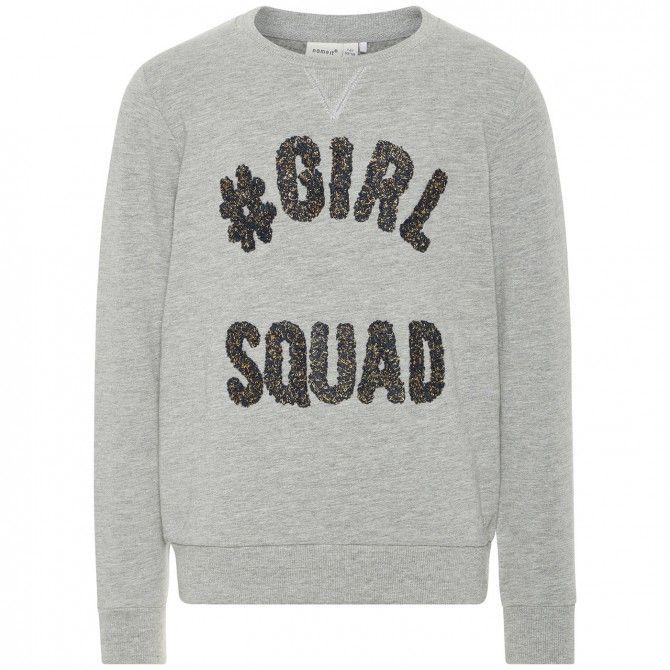 Sudadera Name It Girl Squad Niña