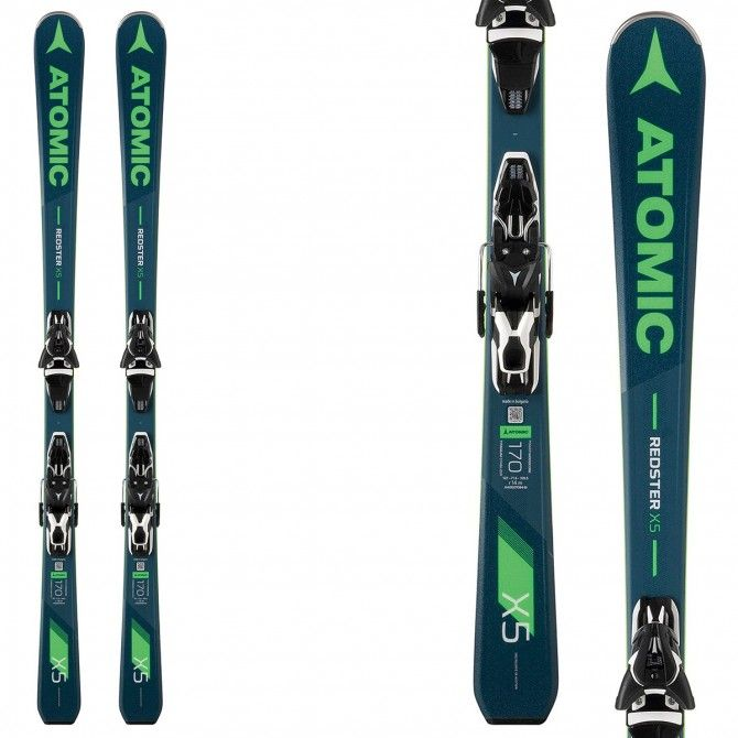 Sci Atomic Redster X5 + attacchi Ft 11 Gw ATOMIC Race carve - sl - gs