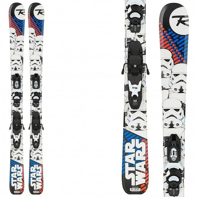 Sci Rossignol Star Wars (Kid-X) + attacchi Xpress Jr 7 B83 ROSSIGNOL