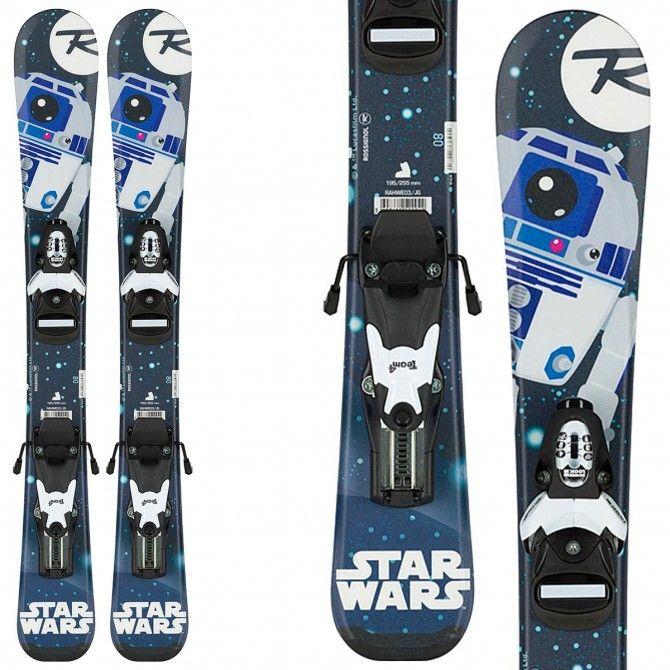 Ski Rossignol Star Wars Baby + bindings Team B76