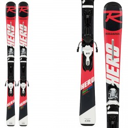 Ski Rossignol Hero Jr 130-150 + fixations Xpress Jr 7 B83